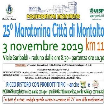 Maratonina di Montalto – scheda tecnica